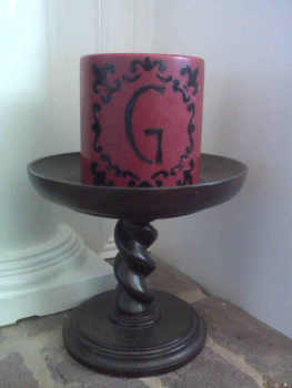 Initialed Gift Candle