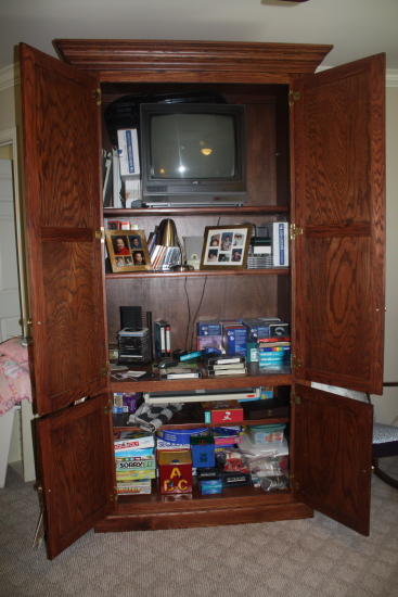 Clutter Filled Cabinet