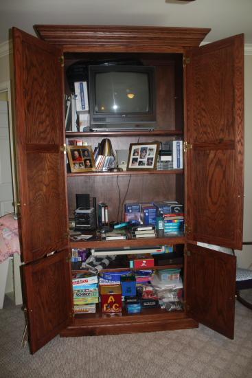 Clutter Filled Cabinet
