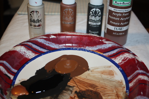 Craft Paint on Paper Plate