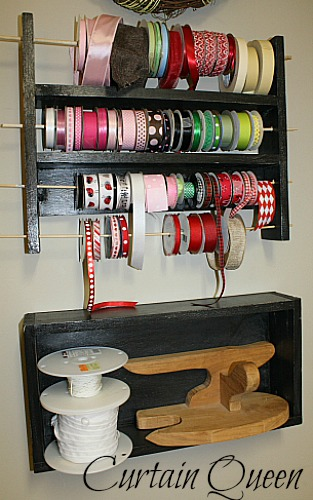 Ribbon Rack and Shelf Complete