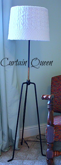 Floor Lamp with Sweater Shade
