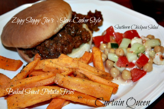 Sloppy Joe's and Sweet Potato Fries