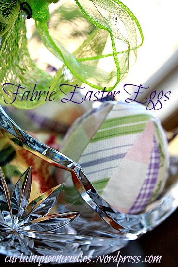 Fabric Eggs in Basket