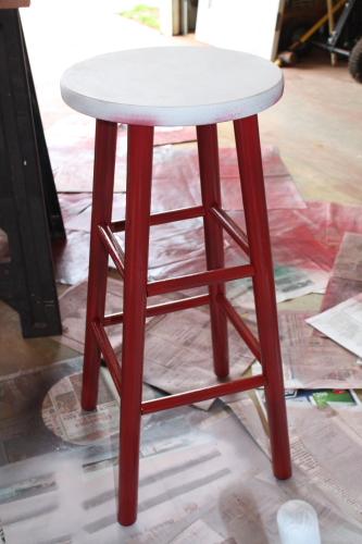 Painting Kitchen Stool