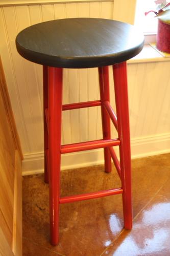 Painted Kitchen Stool