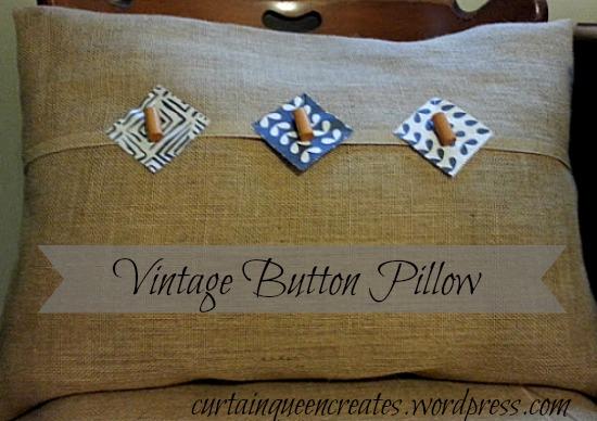 Vintage Button Pillow