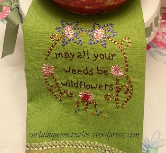 Weeds be Flowers Towel