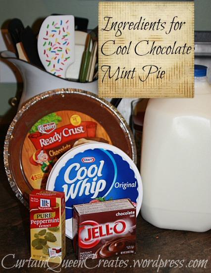 Chocolate Mint Pie Ingredients