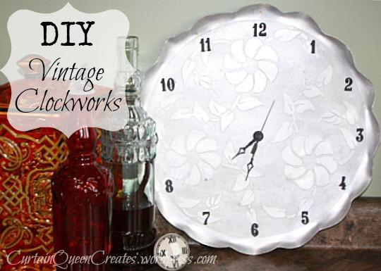 Vintage Tray Clock