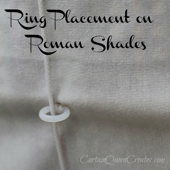 Ringing A Standard Roman Shade Curtain Queen Creates