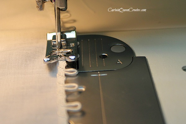 Sewing Trim into Place