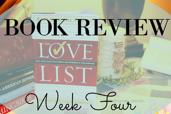 The Love List Book Review - Week Four