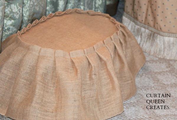 Foot Stool Skirt DIY