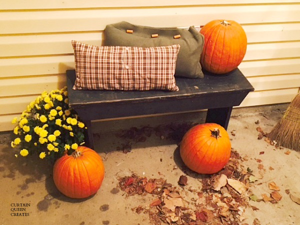 Fall Porch Bench