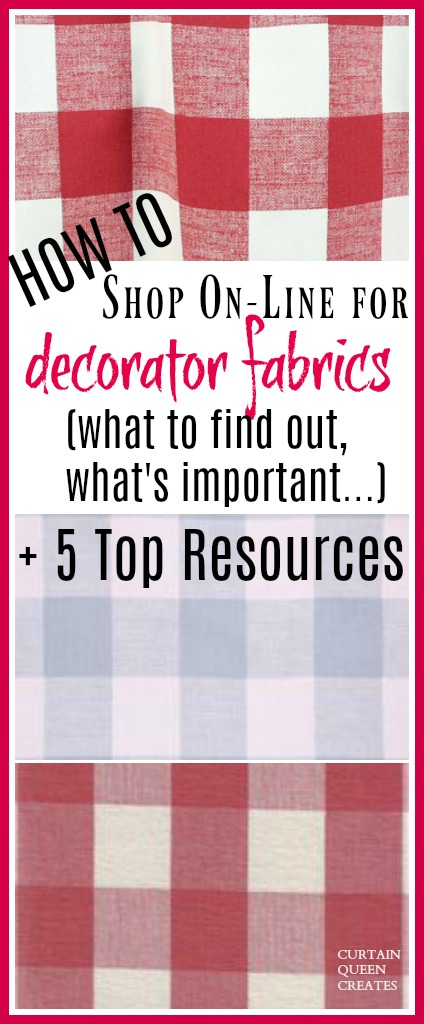 How to Shop On-Line for Decorator Fabrics