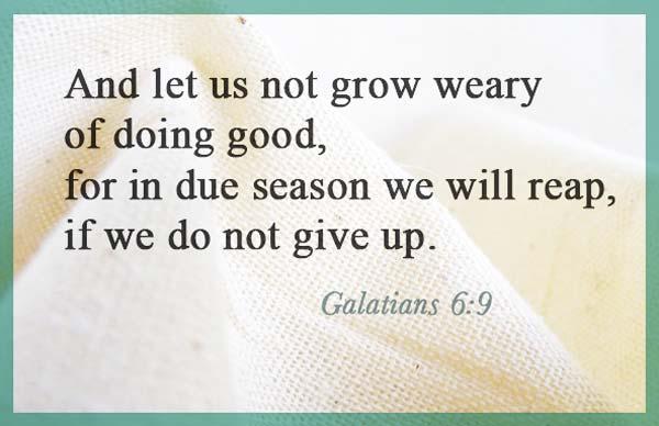 Galations 6.9